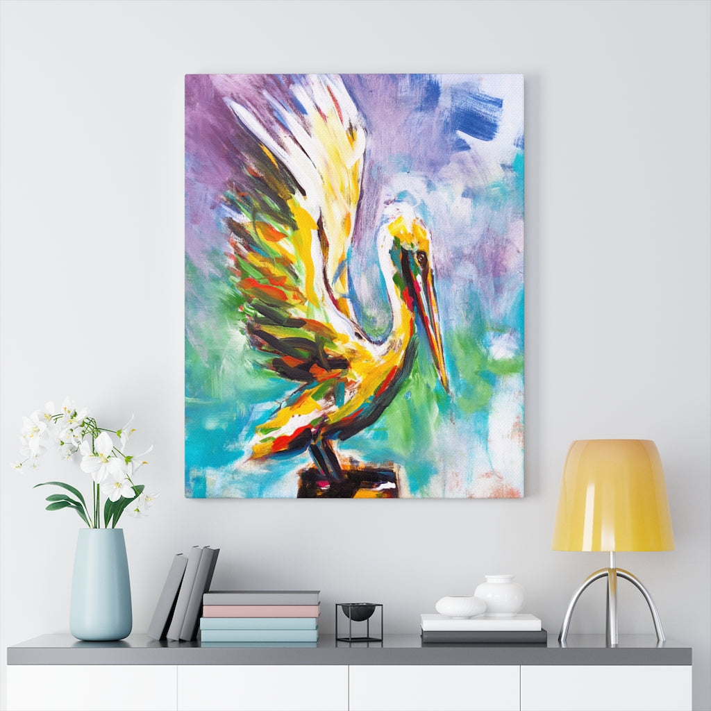 Angelic - Free Bird  - Wall art Print on Canvas-Ready to hang Painting, Tropical  Art Print Home & Wall Decor