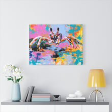 Load image into Gallery viewer, Tiny Treassures - Print on Canvas-Ready to hang Wall Art, Tropical  Art Print Wall Decor
