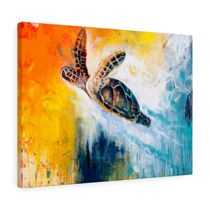 Born to be Free - Print on Canvas-Ready to hang Wall Art, Tropical  Art Print Wall Decor