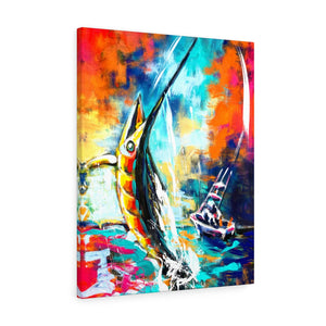 Its Going to be Fight - Wall art Print on Canvas-Ready to hang Painting, Tropical  Art Print Home & Wall Decor