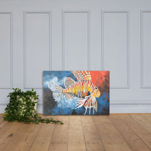 "Load image into Gallery viewer, Print on Canvas- ""Invasive- Lion Fish""Ready to hang Wall Art, Tropical  Art Print Wall Decor"