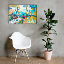 Load image into Gallery viewer, Catch Me if You Can-Wall Art Ready to hang Canvas Painting , Tropical  Art Print Wall Decor for Patio, living room