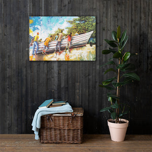 "Print on Canvas- ""Tomorrow Another day""Ready to hang Wall Art, Tropical  Art Print Wall Decor"