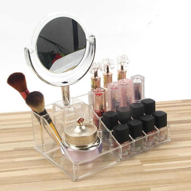 KILIMA DESKTOP MAKEUP STORAGE BOX WITH MIRROR