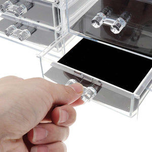 MILANO ACRYLIC MAKEUP ORGANIZER WITH MIRROR