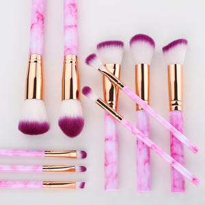 Racssy Beauty Luxe -Professional Makeup Brushes Set of 10