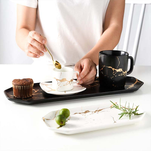 MiLANO LUXURY SERIES MARBLE DECOR TRAY