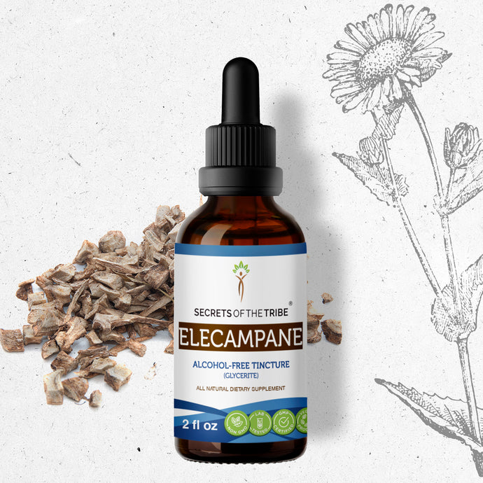 Elecampane Tincture Extract, Organic (Inula Helenium) Dried Root - secretsofthetribe