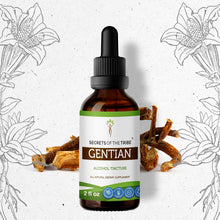 Load image into Gallery viewer, Gentian Tincture Extract, Organic (Gentiana Lutea) Dried Root - secretsofthetribe