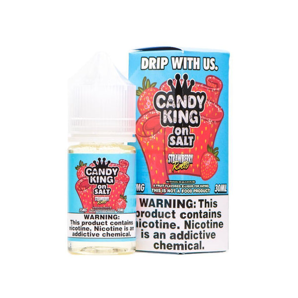 CANDY KING ON SALT | Strawberry Rolls 30ML eLiquid