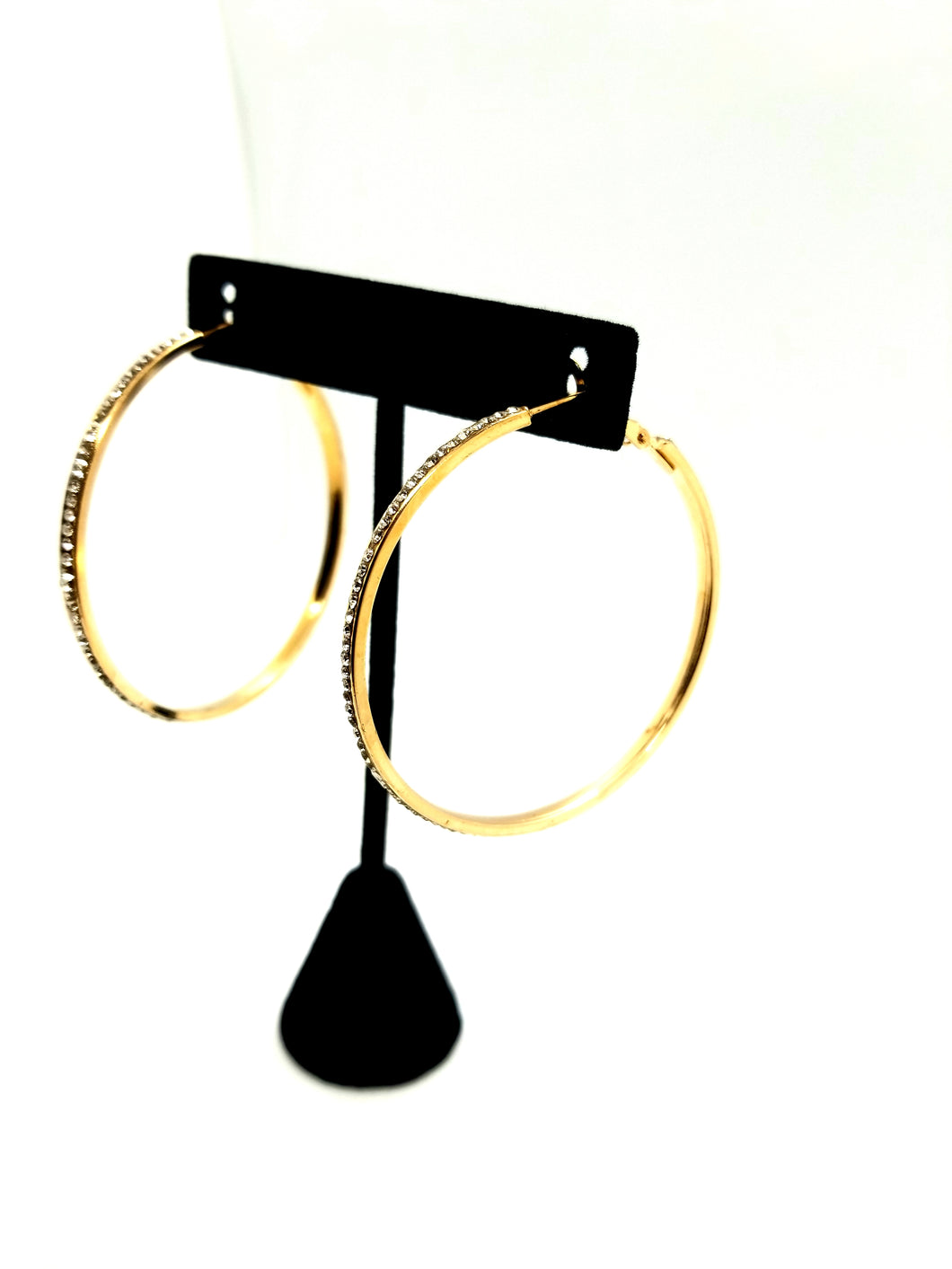 Rinestone Hoop Earrings