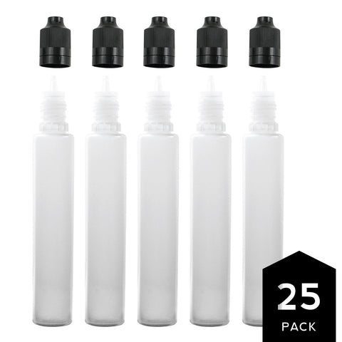 30ml PE Unicorn Pen Plastic Bottle with Child Resistant Tamper Evident Cap (25 Pack)