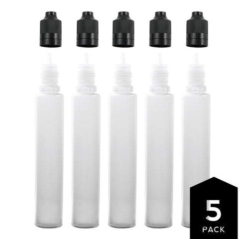 30ml PE Unicorn Pen Plastic Bottle with Child Resistant Tamper Evident Cap (5 Pack)