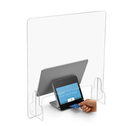"Sneeze Guard - Clear Acrylic Protective Barrier and Shield for Counter and Desk (24""W x 30""H)"