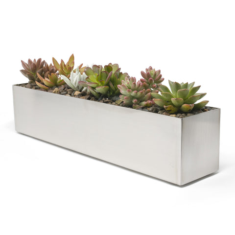 Buhbo Modern Trough Rectangle Planter
