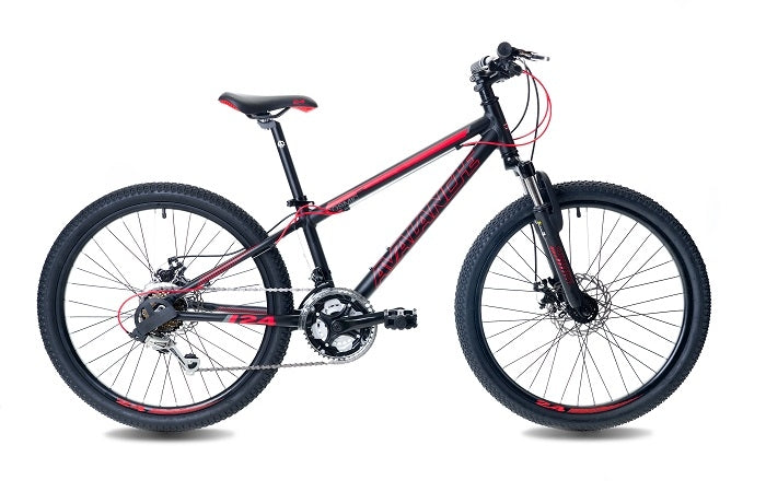 "Avalanche 2020 Cosmic 24"" Disc (Red/Black) Kids Mountain Bike"