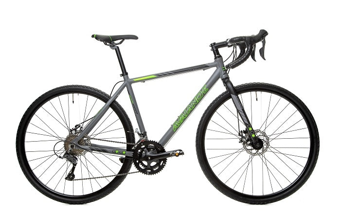 Avalanche 2020 Estrada Gravel (Matt Grey/Green) Gravel Bike