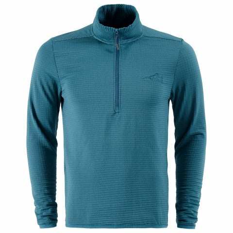 First Ascent Mens Therma Grid 1/4 Zip Fleece Top Large
