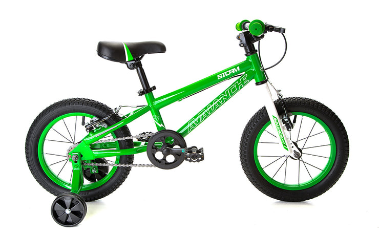 "Avalanche 2020 Storm 14"" Boys (White/Green) Kids Mountain Bike"
