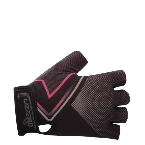 Lizzard Devona Girls Short Fingered Glove (Black/Pink)