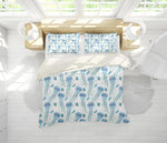 3D Blue Jellyfish Quilt Cover Set Bedding Set Pillowcases 115