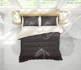 3D Moon Mountain Simple Line Drawing Quilt Cover Set Bedding Set Pillowcases  65