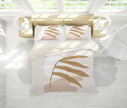 3D Leaf Pattern Quilt Cover Set Bedding Set Pillowcases  60