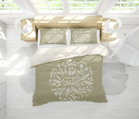 3D White Flowers Pattern Quilt Cover Set Bedding Set Pillowcases  59
