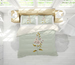 3D Hand drawing Colored Flowers Quilt Cover Set Bedding Set Pillowcases  63