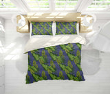 3D Blue Green Leaves Quilt Cover Set Bedding Set Pillowcases 141