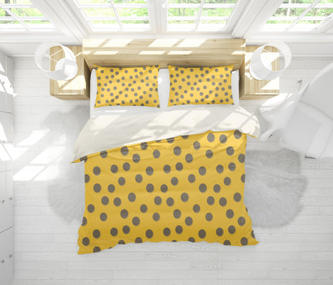 3D Yellow Circle Quilt Cover Set Bedding Set Pillowcases 107