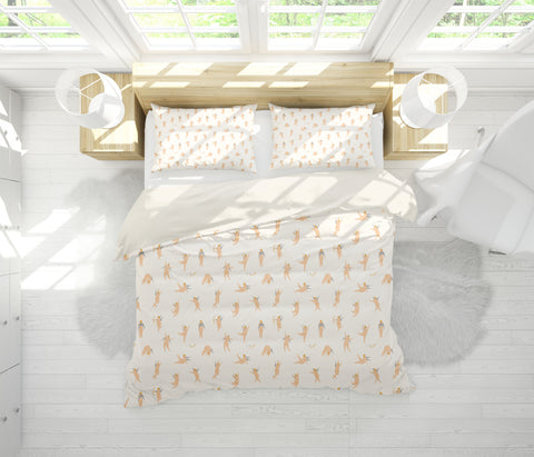 3D Creamy White Cupid Archery Angel Quilt Cover Set Bedding Set Pillowcases 150