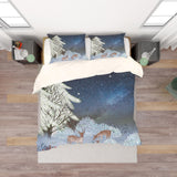 3D Cartoon Reindeer Quilt Cover Set Bedding Set Pillowcases  29