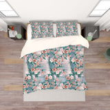 3D Green Yellow Floral Flower Quilt Cover Set Bedding Set Pillowcases 186