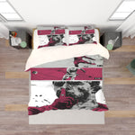 3D Color Portrait Quilt Cover Set Bedding Set Pillowcases  52