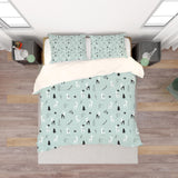 3D Blue Elk Tree Branch Quilt Cover Set Bedding Set Pillowcases 206