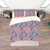 3D Grey Red Smear Quilt Cover Set Bedding Set Pillowcases 163