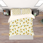 3D Leopard Plants White Quilt Cover Set Bedding Set Pillowcases 212