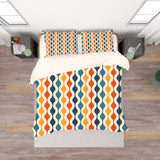 3D Yellow Blue Wavy Quilt Cover Set Bedding Set Pillowcases 173