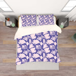 3D Purple Pink Smear Quilt Cover Set Bedding Set Pillowcases 138