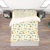 3D Giraffe Crocodile Lion Hippo Elephant Snake Tree Quilt Cover Set Bedding Set Pillowcases 77