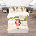 3D Color Cartoon Stairway Quilt Cover Set Bedding Set Pillowcases  35