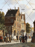 3D Village Castle Oil Painting Wall Mural Wallpaper 80