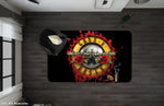 3D Guns N' Roses Rock Band Black Non-Slip Rug Mat 18