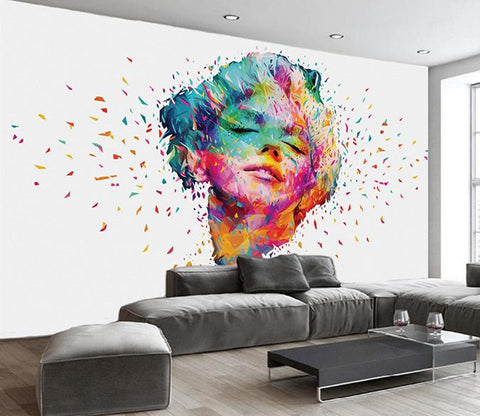 3D Colorful Oil Painting Beauty Wall Murals 209 - Jessartdecoration