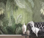 3D Tropical Vintage Leaves Wall Mural Removable 164 - Jessartdecoration