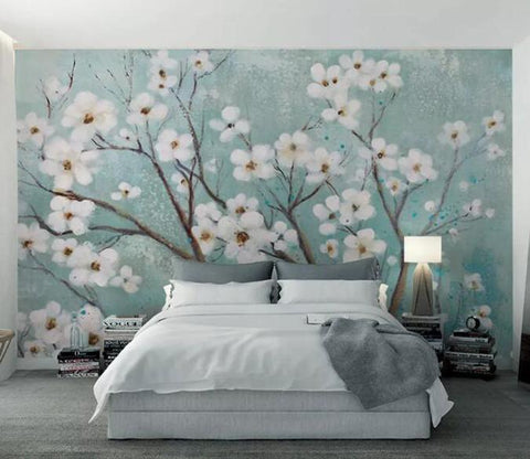 3D Oil Painting Floral Wall Mural Removable 180