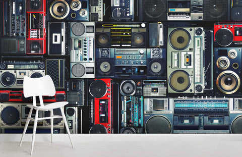 3D Old Radio Effect Wall Mural Wallpaper 25