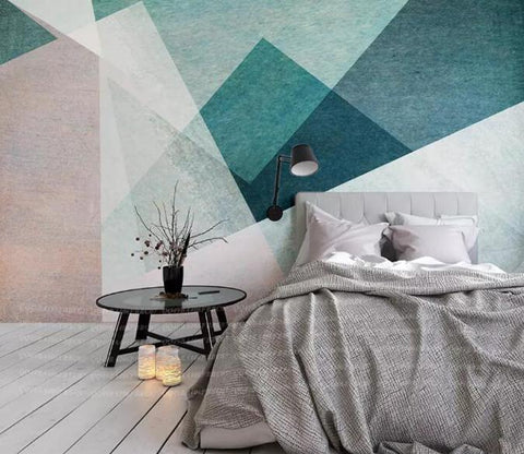 3D Colorful Modern Geometric Wall Mural Removable 161
