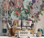 3D Oil Painting Gorgeous Flowers Wall Mural Removable 132 - Jessartdecoration